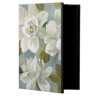 Capa Para iPad Air Gardenias no azul da ardósia