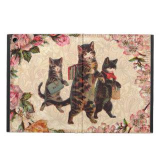 Capa Para iPad Air Gatinho antigo bonito dos gatos do vintage
