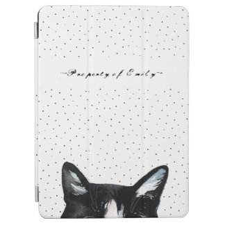 Capa Para iPad Air Gato espreitando curioso adorável com branco do