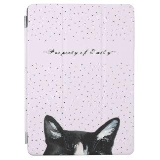 Capa Para iPad Air Gato espreitando curioso adorável com os pontos no