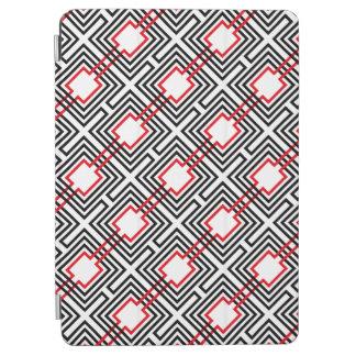 Capa Para iPad Air Geométrico vermelho & branco preto
