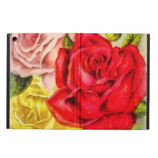 Capa Para iPad Air Grupo da aguarela dos rosas