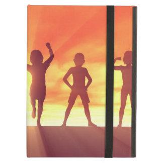 Capa Para iPad Air Grupo de miúdos que têm o divertimento como um