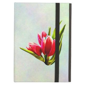Capa Para iPad Air Grupo de tulipas vermelhas
