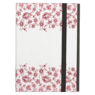 Capa Para iPad Air Grupos de flores cor-de-rosa
