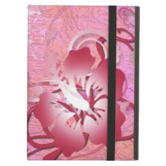 Capa Para iPad Air Hibiscus cor-de-rosa