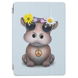 Capa Para iPad Air Hippie bonito do hipopótamo do bebê
