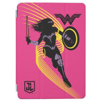 Capa Para iPad Air Ícone da silhueta da mulher maravilha da liga de