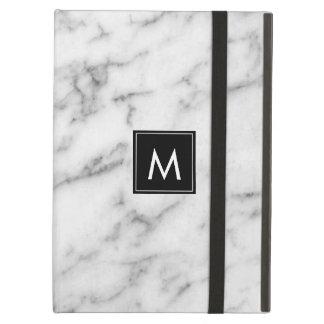 Capa Para iPad Air Imagem da pedra de mármore branca & cinzenta