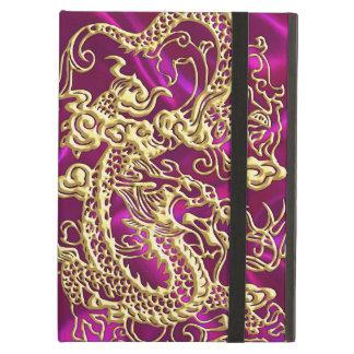 Capa Para iPad Air Impressão magenta gravado do cetim do dragão do