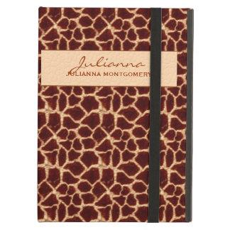 Capa Para iPad Air Impressão rico do girafa de Brown e de Tan
