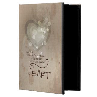 Capa Para iPad Air Incentivo religioso do coração, Grunge