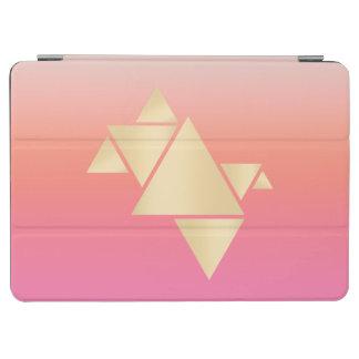 Capa Para iPad Air Inclinação alaranjado cor-de-rosa geométrico do