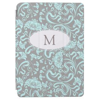 Capa Para iPad Air iPad floral C do monograma do teste padrão do