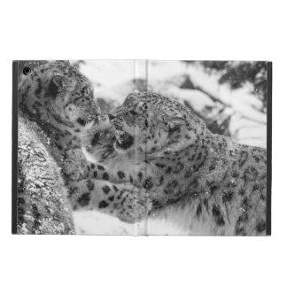 Capa Para iPad Air Irmãos Jogo-De combate do leopardo de neve