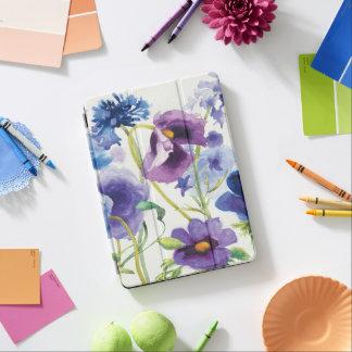 Capa Para iPad Air Jardim misturado azul e roxo