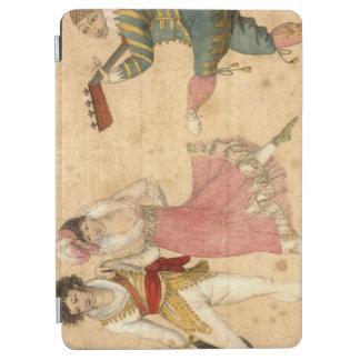 Capa Para iPad Air Jovens que dançam e que cantam, desenho do vintage