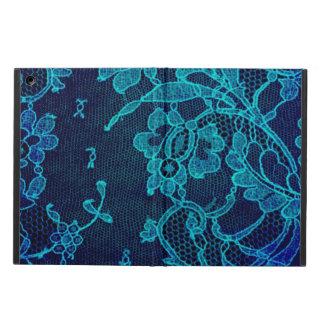 Capa Para iPad Air Laço gótico dos azuis marinhos do Victorian