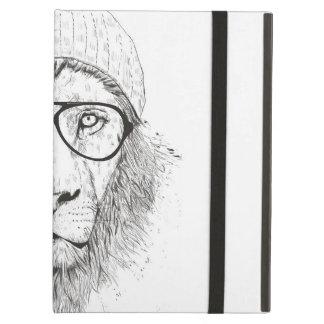 Capa Para iPad Air Leão legal (preto e branco)