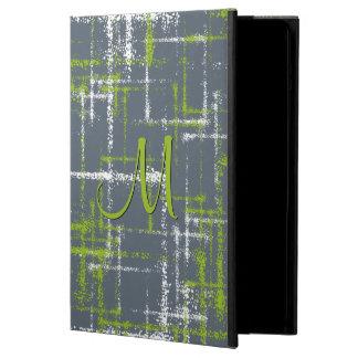 Capa Para iPad Air limão e quadrados entrecruzados abstrato do branco