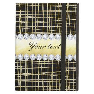 Capa Para iPad Air Linhas e diamantes transversais de Criss do ouro