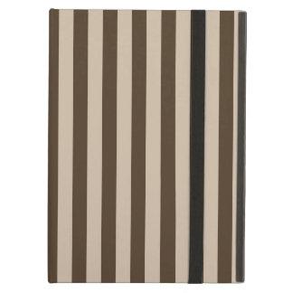 Capa Para iPad Air Listras finas - luz - marrons e Brown escuro