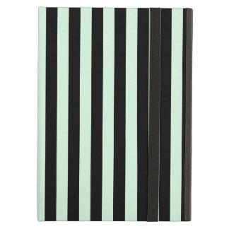 Capa Para iPad Air Listras finas - pretas e verde Pastel