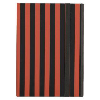 Capa Para iPad Air Listras finas - pretas e vermelho Pastel escuro