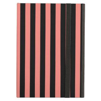 Capa Para iPad Air Listras finas - preto e rosa do coral
