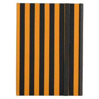 Capa Para iPad Air Listras finas - preto e tangerina