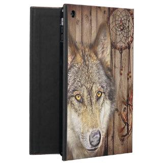 Capa Para iPad Air Lobo ideal ocidental do indiano do nativo