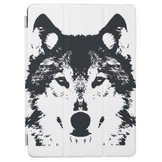 Capa Para iPad Air Lobo preto da ilustração