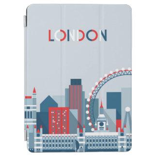 Capa Para iPad Air Londres, Inglaterra skyline vermelha, branca e