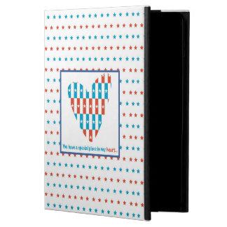 Capa Para iPad Air Lugar patriótico no coração, incentivo do apoio