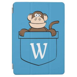 Capa Para iPad Air Macaco engraçado em um bolso Monogrammed