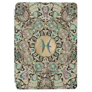 Capa Para iPad Air Mandala do laço do ouro dos peixes