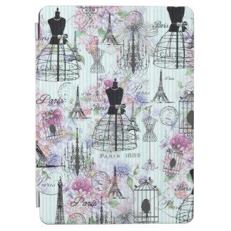 Capa Para iPad Air Manequim floral cor-de-rosa boémio de Paris das