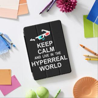 Capa Para iPad Air Mantenha a calma e viva no mundo hyperreal