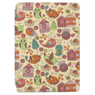Capa Para iPad Air Mão colorida abstrata design floral tirado do
