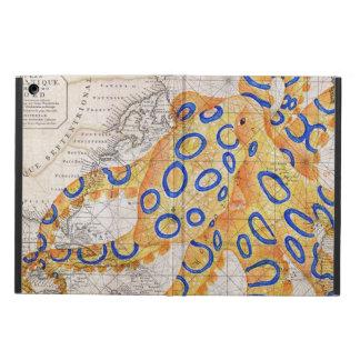 Capa Para iPad Air Mapa azul do polvo do anel