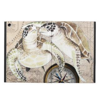Capa Para iPad Air Mapa de compasso das tartarugas de mar