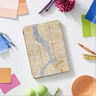 Capa Para iPad Air Mapa dourado da cidade de New York