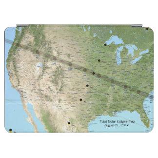 Capa Para iPad Air Mapa total 2017 do trajeto do eclipse solar