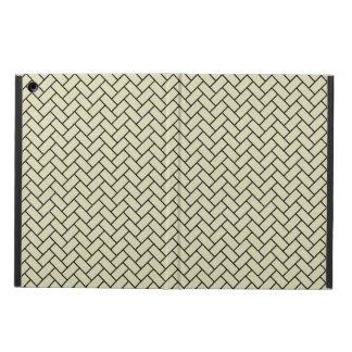 CAPA PARA iPad AIR MÁRMORE BRICK2 PRETO & LINHO BEGE (R)