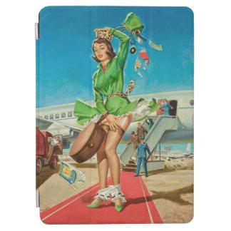 Capa Para iPad Air Menina retro do pinup da aterragem forçada