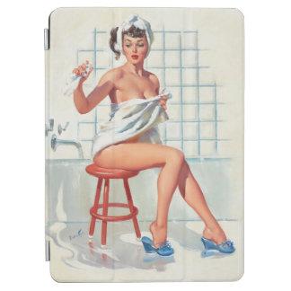 "Capa Para iPad Air Menina retro do pinup do banheiro ""sexy"" do pombo"