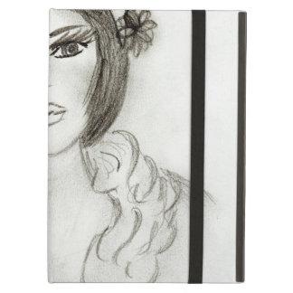 Capa Para iPad Air Menina Ruffled do Flapper