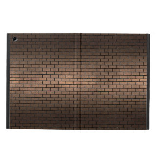 CAPA PARA iPad AIR METAL PRETO DO MÁRMORE BRICK1 & DO BRONZE (R)