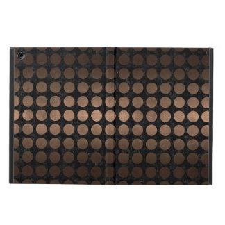 CAPA PARA iPad AIR METAL PRETO DO MÁRMORE CIRCLES1 & DO BRONZE
