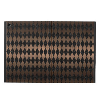CAPA PARA iPad AIR METAL PRETO DO MÁRMORE DIAMOND1 & DO BRONZE
